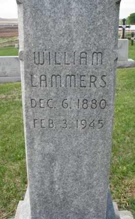 LAMMERS, WILLIAM (CLOSEUP) - Cedar County, Nebraska | WILLIAM (CLOSEUP) LAMMERS - Nebraska Gravestone Photos