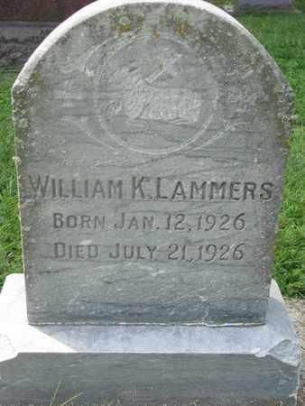 LAMMERS, WILLIAM K. - Cedar County, Nebraska | WILLIAM K. LAMMERS - Nebraska Gravestone Photos