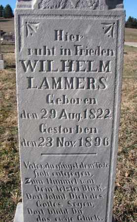LAMMERS, WILHELM (CLOSEUP) - Cedar County, Nebraska | WILHELM (CLOSEUP) LAMMERS - Nebraska Gravestone Photos