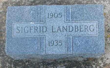 LANDBERG, SIGFRID - Cedar County, Nebraska | SIGFRID LANDBERG - Nebraska Gravestone Photos