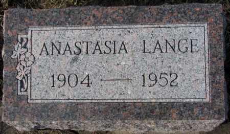 LANGE, ANASTASIA - Cedar County, Nebraska   ANASTASIA LANGE - Nebraska Gravestone Photos