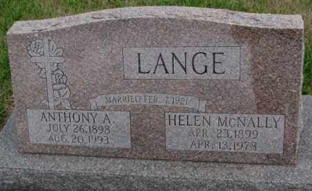 LANGE, ANTHONY A. - Cedar County, Nebraska | ANTHONY A. LANGE - Nebraska Gravestone Photos