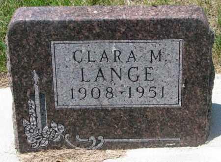 LANGE, CLARA M. - Cedar County, Nebraska   CLARA M. LANGE - Nebraska Gravestone Photos