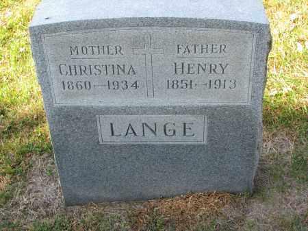 LANGE, CHRISTINA - Cedar County, Nebraska | CHRISTINA LANGE - Nebraska Gravestone Photos