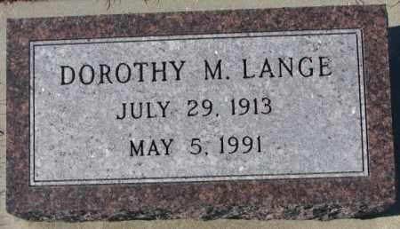 LANGE, DOROTHY M. - Cedar County, Nebraska | DOROTHY M. LANGE - Nebraska Gravestone Photos