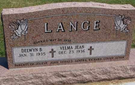 LANGE, DELWYN B. - Cedar County, Nebraska   DELWYN B. LANGE - Nebraska Gravestone Photos