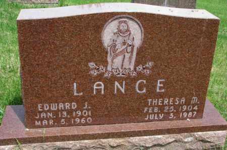 LANGE, EDWARD J. - Cedar County, Nebraska | EDWARD J. LANGE - Nebraska Gravestone Photos