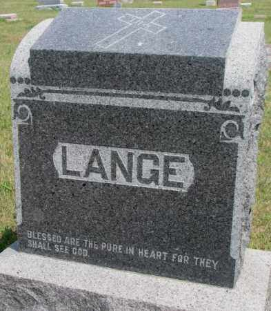 LANGE, FAMILY STONE - Cedar County, Nebraska | FAMILY STONE LANGE - Nebraska Gravestone Photos