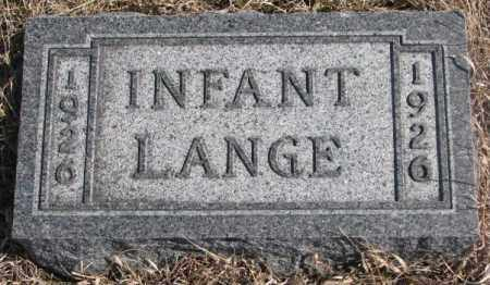 LANGE, INFANT - Cedar County, Nebraska | INFANT LANGE - Nebraska Gravestone Photos
