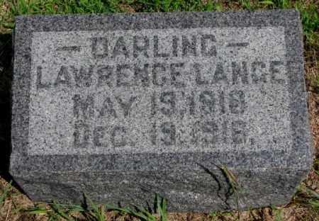LANGE, LAWRENCE - Cedar County, Nebraska | LAWRENCE LANGE - Nebraska Gravestone Photos