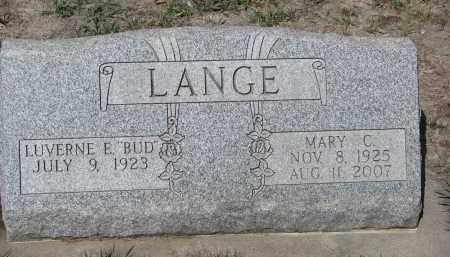 LANGE, MARY C. - Cedar County, Nebraska | MARY C. LANGE - Nebraska Gravestone Photos