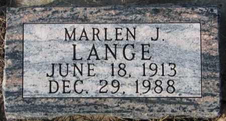 LANGE, MARLEN J. - Cedar County, Nebraska | MARLEN J. LANGE - Nebraska Gravestone Photos