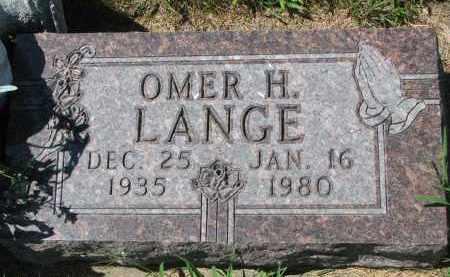LANGE, OMER H. - Cedar County, Nebraska | OMER H. LANGE - Nebraska Gravestone Photos