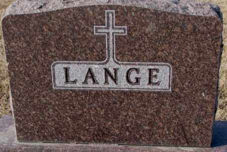 LANGE, PLOT - Cedar County, Nebraska | PLOT LANGE - Nebraska Gravestone Photos