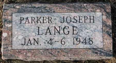 LANGE, PARKER JOSEPH - Cedar County, Nebraska | PARKER JOSEPH LANGE - Nebraska Gravestone Photos