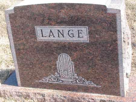 LANGE, PLOT STONE - Cedar County, Nebraska | PLOT STONE LANGE - Nebraska Gravestone Photos