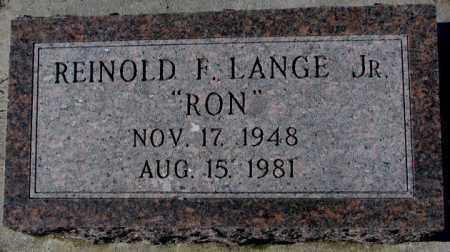 LANGE, REINOLD F. JR. - Cedar County, Nebraska | REINOLD F. JR. LANGE - Nebraska Gravestone Photos