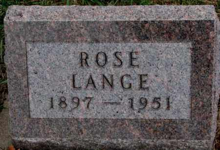 LANGE, ROSE - Cedar County, Nebraska | ROSE LANGE - Nebraska Gravestone Photos