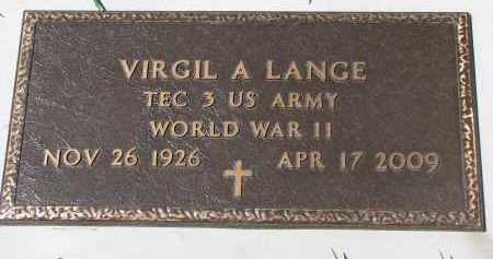 LANGE, VIRGIL A. (WW II) - Cedar County, Nebraska | VIRGIL A. (WW II) LANGE - Nebraska Gravestone Photos