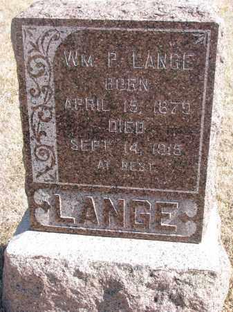 LANGE, WILLIAM P. - Cedar County, Nebraska | WILLIAM P. LANGE - Nebraska Gravestone Photos