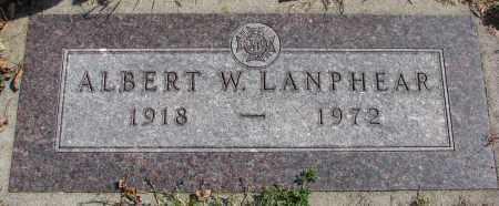 LANPHEAR, ALBERT W. - Cedar County, Nebraska | ALBERT W. LANPHEAR - Nebraska Gravestone Photos
