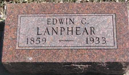 LANPHEAR, EDWIN C. - Cedar County, Nebraska   EDWIN C. LANPHEAR - Nebraska Gravestone Photos