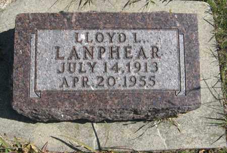 LANPHEAR, LLOYD L. - Cedar County, Nebraska   LLOYD L. LANPHEAR - Nebraska Gravestone Photos