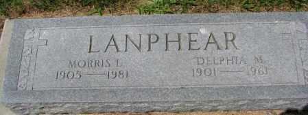 LANPHEAR, DELPHIA M. - Cedar County, Nebraska | DELPHIA M. LANPHEAR - Nebraska Gravestone Photos