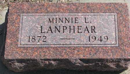 LANPHEAR, MINNIE L. - Cedar County, Nebraska   MINNIE L. LANPHEAR - Nebraska Gravestone Photos