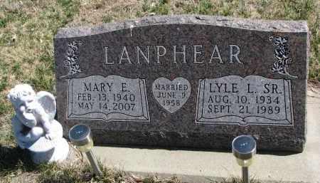 LANPHEAR, LYLE L. SR. - Cedar County, Nebraska   LYLE L. SR. LANPHEAR - Nebraska Gravestone Photos