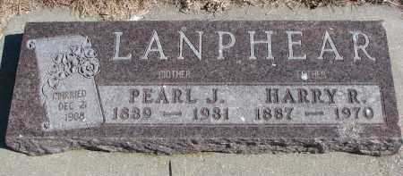 LANPHEAR, PEARL J. - Cedar County, Nebraska   PEARL J. LANPHEAR - Nebraska Gravestone Photos