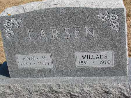 LARSEN, WILLADS - Cedar County, Nebraska | WILLADS LARSEN - Nebraska Gravestone Photos