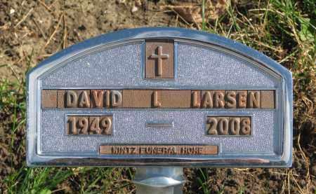 LARSEN, DAVID L. - Cedar County, Nebraska | DAVID L. LARSEN - Nebraska Gravestone Photos