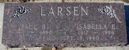 LARSEN, ISABELLA E. - Cedar County, Nebraska   ISABELLA E. LARSEN - Nebraska Gravestone Photos