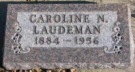 LAUDEMAN, CAROLINE N. - Cedar County, Nebraska | CAROLINE N. LAUDEMAN - Nebraska Gravestone Photos
