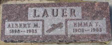 LAUER, ALBERT M. - Cedar County, Nebraska | ALBERT M. LAUER - Nebraska Gravestone Photos