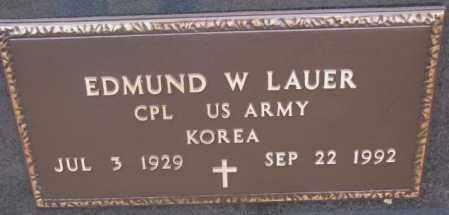 LAUER, EDMUND W. (KOREA) - Cedar County, Nebraska | EDMUND W. (KOREA) LAUER - Nebraska Gravestone Photos