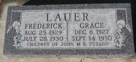 LAUER, GRACE - Cedar County, Nebraska | GRACE LAUER - Nebraska Gravestone Photos