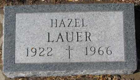 LAUER, HAZEL - Cedar County, Nebraska | HAZEL LAUER - Nebraska Gravestone Photos