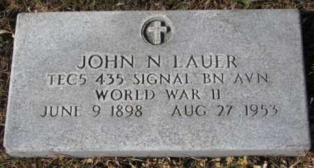 LAUER, JOHN N. (WW II) - Cedar County, Nebraska | JOHN N. (WW II) LAUER - Nebraska Gravestone Photos