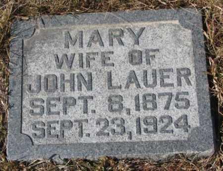 LAUER, MARY - Cedar County, Nebraska | MARY LAUER - Nebraska Gravestone Photos
