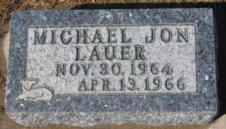 LAUER, MICHAEL JON - Cedar County, Nebraska | MICHAEL JON LAUER - Nebraska Gravestone Photos