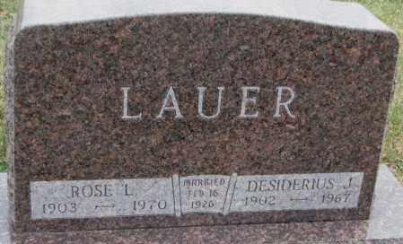 LAUER, DESIDERIUS J. - Cedar County, Nebraska | DESIDERIUS J. LAUER - Nebraska Gravestone Photos