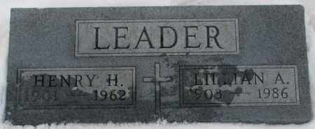 LEADER, HENRY H. - Cedar County, Nebraska | HENRY H. LEADER - Nebraska Gravestone Photos