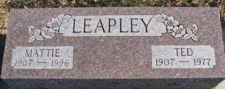 LEAPLEY, TED - Cedar County, Nebraska | TED LEAPLEY - Nebraska Gravestone Photos