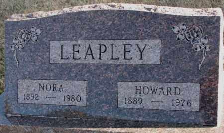 LEAPLEY, NORA - Cedar County, Nebraska | NORA LEAPLEY - Nebraska Gravestone Photos