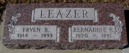 LEAZER, ERVEN B. - Cedar County, Nebraska   ERVEN B. LEAZER - Nebraska Gravestone Photos