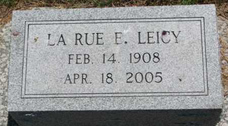 LEICY, LA RUE E. - Cedar County, Nebraska | LA RUE E. LEICY - Nebraska Gravestone Photos