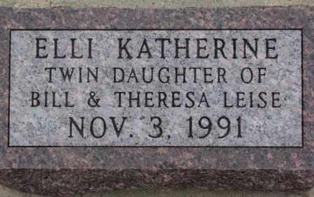 LEISE, ELLI KATHERINE - Cedar County, Nebraska | ELLI KATHERINE LEISE - Nebraska Gravestone Photos