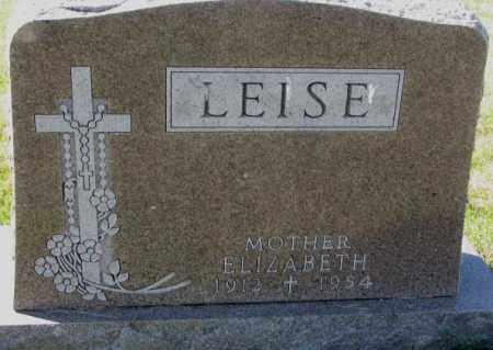 LEISE, ELIZABETH - Cedar County, Nebraska | ELIZABETH LEISE - Nebraska Gravestone Photos